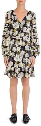 The Kooples Silk Hortensia-Print Dress