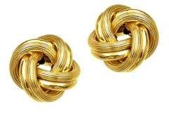 Lord & Taylor 14K Yellow Gold Knot Earrings