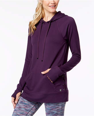 Macy's Ideology Lace-Up Sides Hoodie, Created for