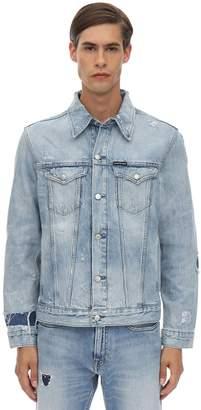 Calvin Klein Jeans DISTRESSED COTTON DENIM JACKET