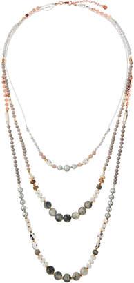 Nakamol Mixed Stone & Pearl Layered Necklace