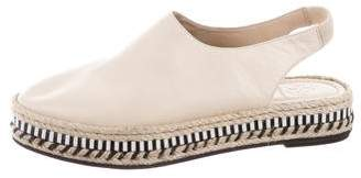 Tory Burch Leather Slingback Espadrilles