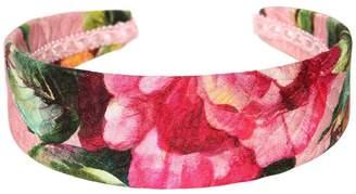 Dolce & Gabbana Roses Printed Brocade Headband
