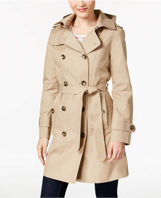 London Fog Hooded Double-Breasted Trench Coat $180 thestylecure.com