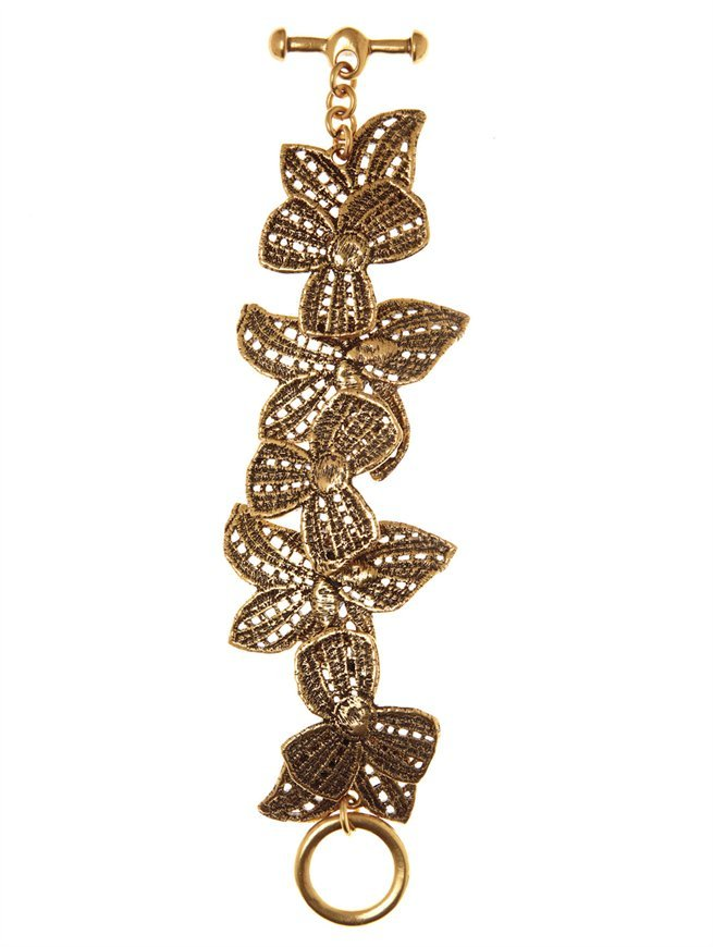 Oscar de la Renta Antique Lace Designed Bracelet