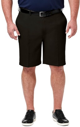 Haggar Big & Tall Cool 18 PRO Classic-Fit Flat-Front Shorts