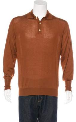 Loro Piana Cashmere & Silk Polo Sweater