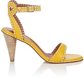 Derek Lam WOMEN'S ADEN LEATHER ANKLE-STRAP SANDALS - YELLOW SIZE 9.5