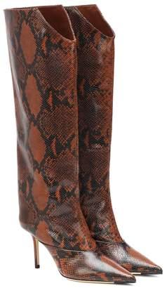 Jimmy Choo Brelan 85 snake-effect boots