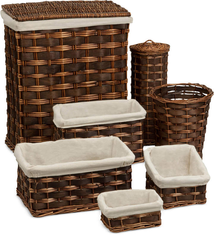 Honey Can Do 7-Piece Wicker Hamper & Basket Set