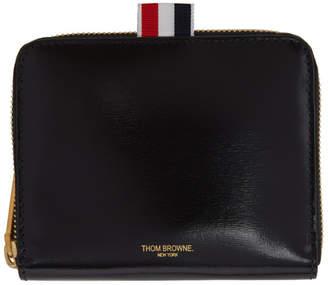 Thom Browne Black Short Zip-Around Wallet