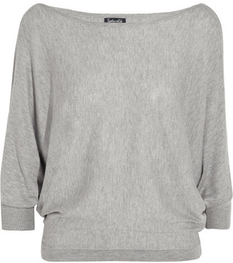 Splendid - Bailey Cutout Stretch-knit Top - Light gray $175 thestylecure.com