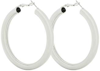 At Littlewoods Very Alba Thick Round Hoop Earrings Silver