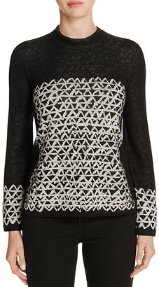 NIC and ZOE Geometric Chic Top $148 thestylecure.com