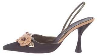 Chanel Camellia Slingback Pumps