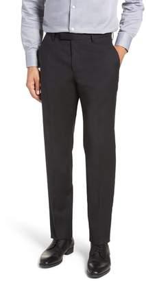 BOSS Leenon Flat Front Check Wool Trousers