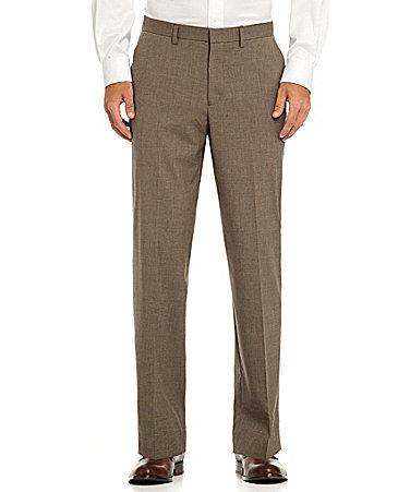 Murano Flat-Front Tic Zac Pants
