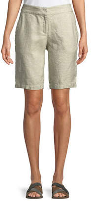 Eileen Fisher Twinkle Linen-Blend Walking Shorts