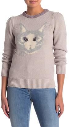 Rebecca Taylor Cat Intarsia Sweater