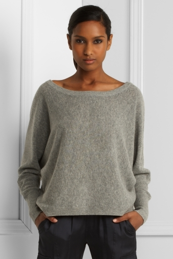 Oversized Dolman-Sleeve Sweater