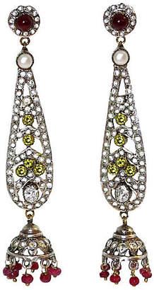 One Kings Lane Vintage Semi-Precious Stone Drop Earrings