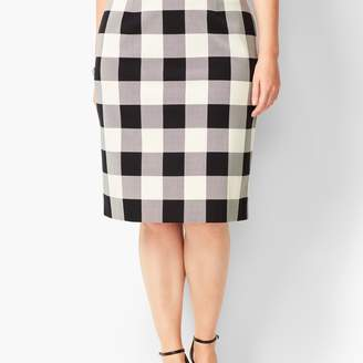 Talbots Twill Gingham Pencil Skirt