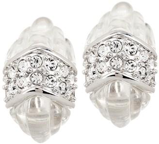 Kenneth Jay Lane Kenneth Jay Lanes Simulated Rock Crystal Quartz Earrings