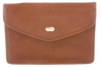 Burberry Leather Flap Wristlet