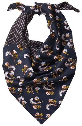 Enid Floral Square Scarf $58 thestylecure.com