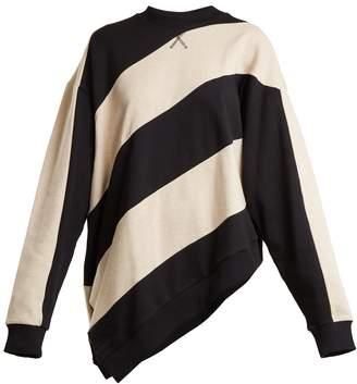 Marques Almeida MARQUES'ALMEIDA Asymmetric-hem striped cotton sweatshirt