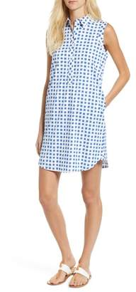 Vineyard Vines Painterly Grid Sleeveless A-Line Dress