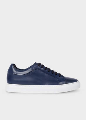 Paul Smith Men's Dark Navy Leather 'Basso' Trainers