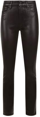 Paige Hoxton Ankle High-Rise Coated Skinny Jeans