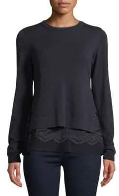 Max Mara Delta Lace Underlay Sweater