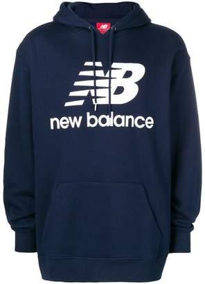 New Balance logo print hoodie