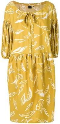 Aspesi leaf print dress