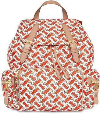 Burberry Md Tb Monogram Print Nylon Backpack