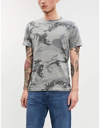 Replay Camouflage print cotton-jersey T-shirt
