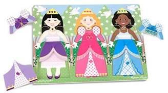 Melissa & Doug Wooden Princess Dress Up Peg Puzzle