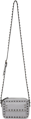 Valentino Grey Small Rockstud Crossbody Bag $995 thestylecure.com