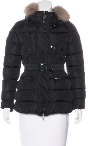 MonclerMoncler Genette Fox-Trimmed Puffer Jacket