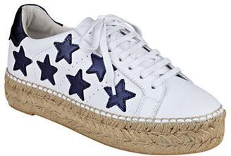 Marc Fisher Ltd Marcia Lace-up Espadrille Platform Sneakers $155 thestylecure.com