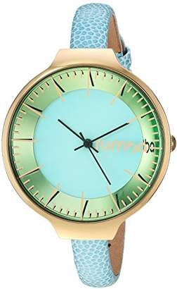 RumbaTime Women's 'Orchard' Quartz Stainless Steel and Leather Casual Watch