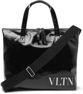 Valentino Garavani Logo-Trimmed Vinyl Tote Bag