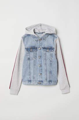 H&M Hooded Denim Jacket - Blue