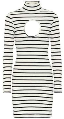 Vetements Striped stretch-jersey minidress