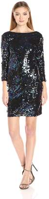 Vero Moda Women's Thilde Sequins 3/4 Sleeve Dress