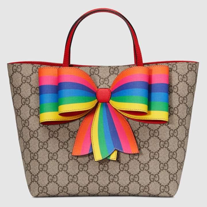 41b0c12e883 0e03fecba75d20c7f0888770853f3e96 best.jpg. 5. Children s GG Supreme rainbow  bow tote