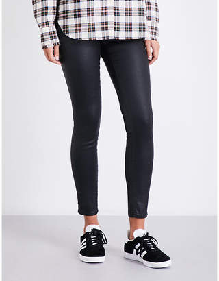AG Jeans The Farrah super-skinny mid-rise leatherette leggings