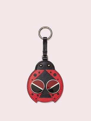 Kate Spade Spademals Ladybug Dangle Keychain, Hot Chili